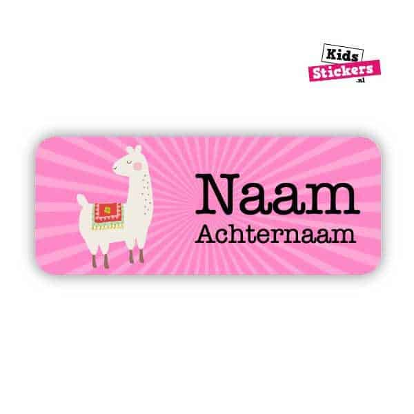 Naamsticker Alpaca