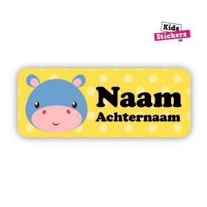 Naamsticker Nijpaard