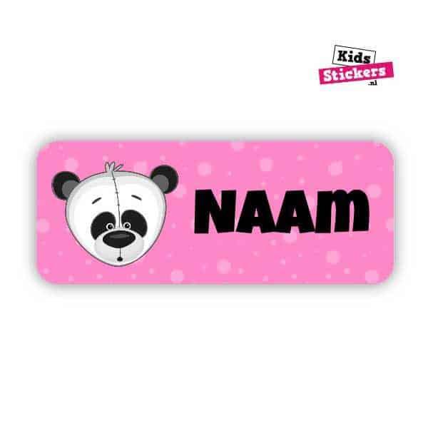 Naamsticker Pandabeer