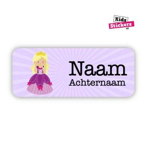 Naamsticker Prinses