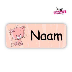 Naamsticker Roze poes