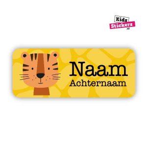 Naamsticker Tijger