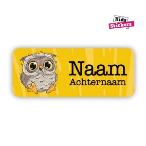 Naamsticker Uil