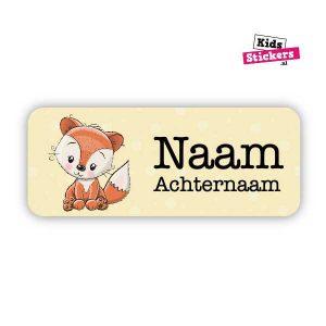 Naamsticker Vosje