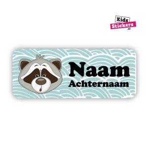 Naamsticker Wasbeer