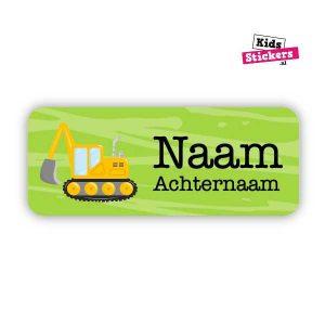 Naamsticker graafmachine