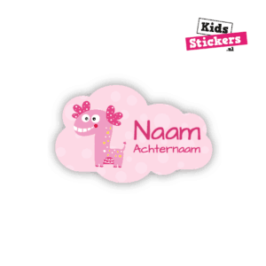 Naamsticker monsterdino