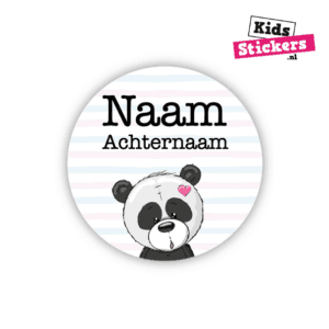 Naamsticker rond panda