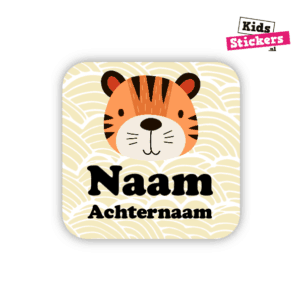 Naamsticker tijgertje