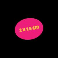 Ovaal naamsticker logo