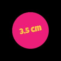 Ronde naamsticker logo